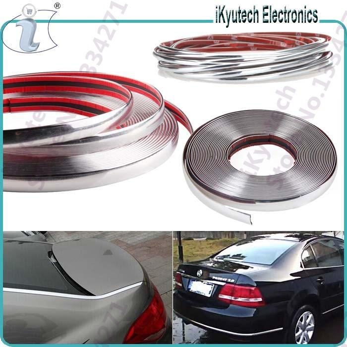 Make your Car looks Cool 4/6/8/10/12/15/18/20/22/25/28/30 Chrome Trim Molding Strips Grill Interior Car Styling Exterior Sticker(China (Mainland))