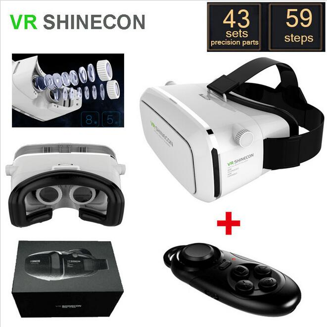 Shinecon VR Virtual Reality 3D Glasses Headset Oculus Rift Head Mount Movie Game 3.5-6.0 Inch Phone Google Cardboard DK2(China (Mainland))