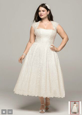 you can share these vintage plus size tea length wedding dresses on ...
