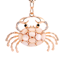 Buy PRO ACME Pretty Chic Opals Crabs Keychain Women Bag Pendant Key Chain Christmas Gift Jewelry Car Key ring llaveros PWK0619 ) for $2.36 in AliExpress store
