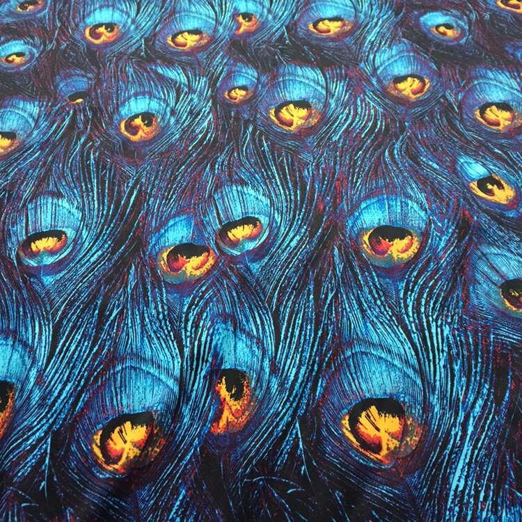 148CM*50CM vintage handmade diy blue peacock feather cotton print fabric dress crafts sewing fabric tecidos doll cloth tissue(China (Mainland))