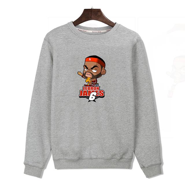 Fashion LeBron James hoodie sweatshirt men/ women sport Jordan hoodies and basketball sudaderas hombre hip hop hoodies rock