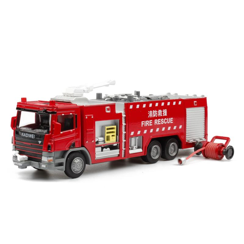 kids toys for children kaidiwei 1:50 scale model car fire truck diecast car model blaze cars toy 625013(China (Mainland))