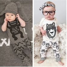 Fashion Boys&Girls Kids Small Monster Short /LongSleeve T Shirt & Long Pants 2pcs Set Pajamas Chidlren Clothing Sets(China (Mainland))
