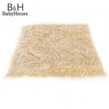 Hot Sale Baby Kids 100 x 50cm Faux Fur Blanket Basket Stuffer Photography Props Background Newborn Blanket 35(China (Mainland))