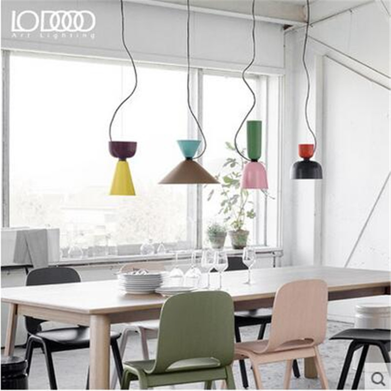 DIY Mixed Colors Vintage Painted Iron Led E27 Pendant Light for Dining Room Restaurant Bar Decor Lamps AC 80-265V 1564(China (Mainland))