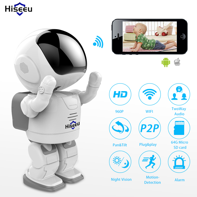 HD 960P Wi-fi IP Camera Wireless Day Night Vision Camera High Quality Network Camera home CCTV WIFI P2P CAM360 APP 1.3MP Hiseeu(China (Mainland))