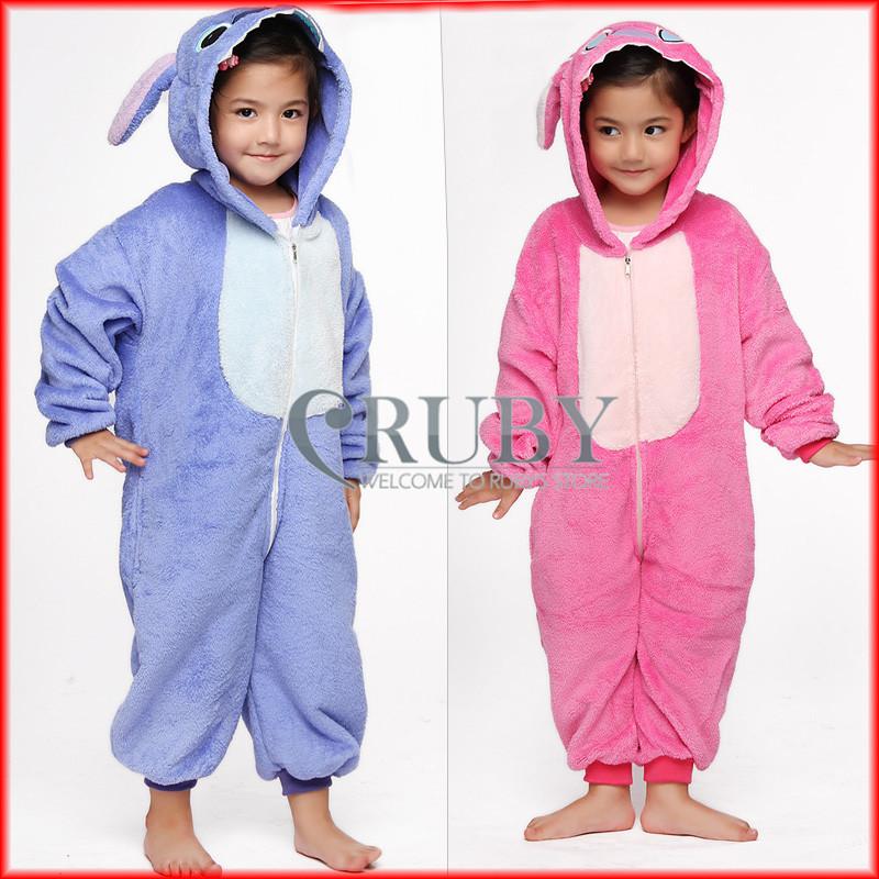 Unisex Children's Fashion Onesies Cosplay Costumes Animal Pajamas Christmas Gift Kids Cartoon Cute Stitch Pyjamas Sleepwear - RUBY TOP 2 store