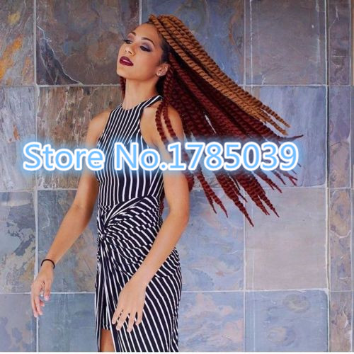 One pack Only Free Shipping fast delivewry Mambo Jumbo havana twist Synthetic Hair Kanekalon fiber Braiding hair<br><br>Aliexpress