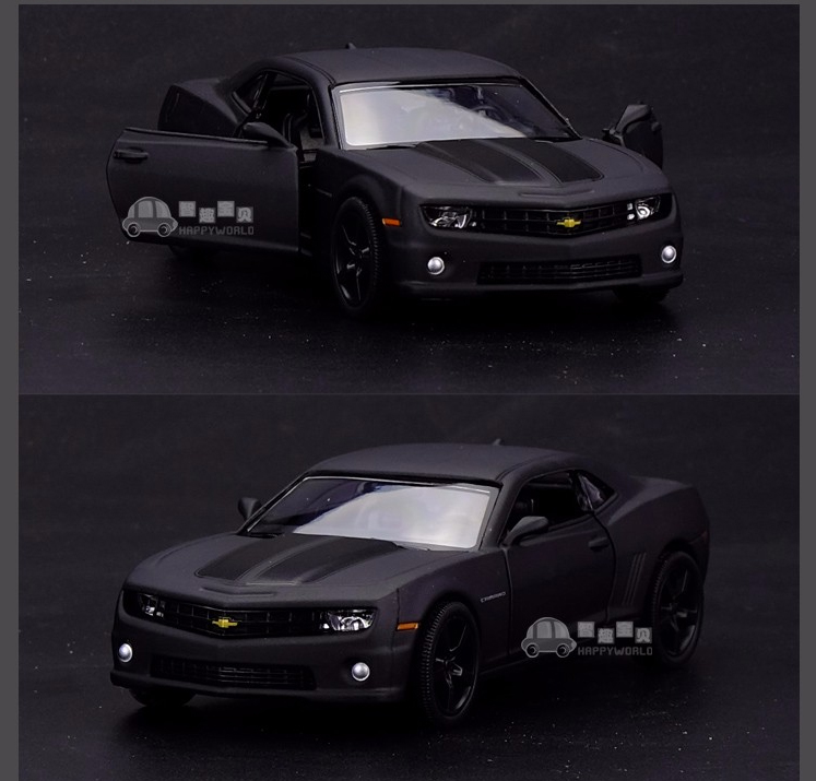 New Licensed Diecast Metal 1:36 Scale Car Model For The Chevrolet Camaro Collection Alloy Model Pull Back Toys Car Matte Black(China (Mainland))