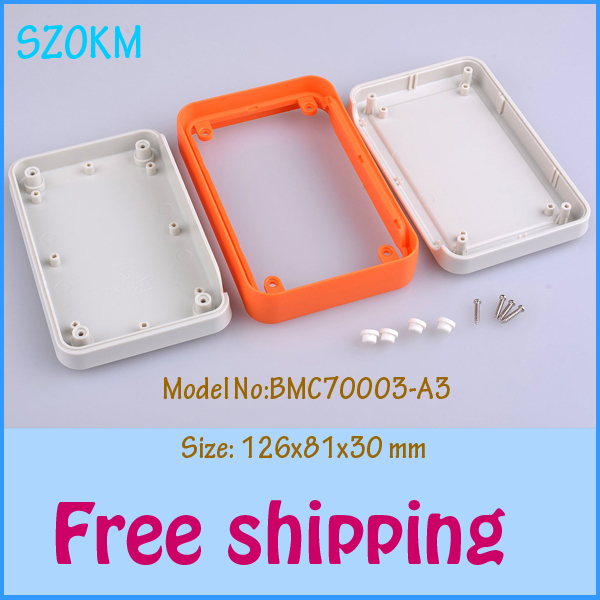 2 pcs/lot free shipping abs plastic project boxes electronic housing led junction box abs project box 126x81x30 mm(China (Mainland))