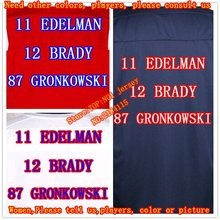 2016 new 12 Tom Brady jersey 87 Rob Gronkowski 11 Julian Edelman Jersey Men Elite game women kids youth football jerseys(China (Mainland))