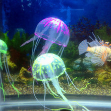 New Tank Ornament Swim Glowing Effect Jellyfish Jar Decoration For Aquarium Fish Free Shipping(China (Mainland))