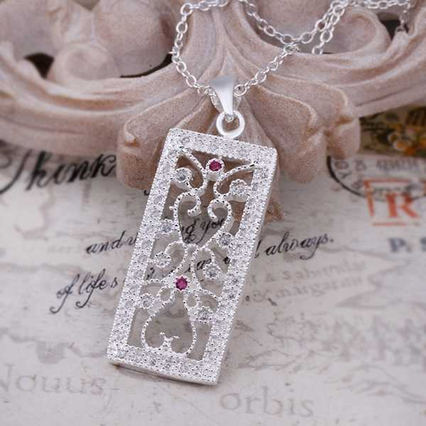 925 silver pendant nceklace Silver Necklace Fashion Sterling Silver Jewelry Hollow Tags Pendant Necklace chain from india MTN414(China (Mainland))
