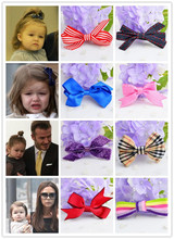 4pcs Newest Children Hair Accessories Flower Solid Bow Hair Clip Baby Hair Band Infant Bobby Pin Girl Hairpin headwear