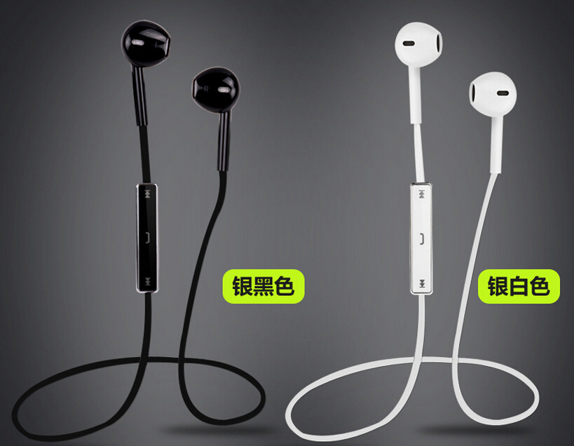 stereo wireless in ear earphone with remote mic sport earpod bluetooth 4 0 headphone top sound. Black Bedroom Furniture Sets. Home Design Ideas