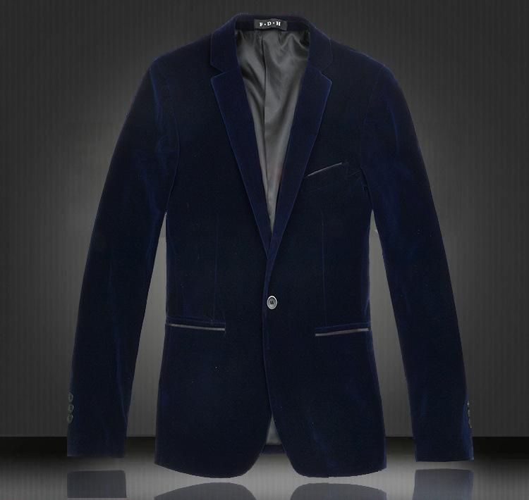 2015 New Brand Velvet Blazer Men Plus Size Black Velvet Long Sleeve Blazer Masculino Casual Fit Slim Suit Jacket Man Blazer