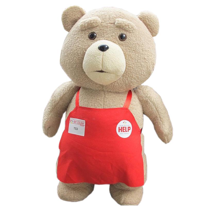 Big Size 46 cm Original Teddy Bear Stuffed Plush Animals Ted 2 Plush Soft Doll Baby Birthday Gift Kids Toys(China (Mainland))