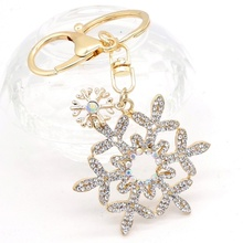 Buy snowflake Keychains Crystal Key Ring Key Chains Christmas Gift Jewelry Llaveros Pendant for $2.69 in AliExpress store