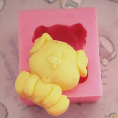 C185 soap mold/handmade soap mold/silicone mold/soap die/silica gel soap die dog nose(China (Mainland))