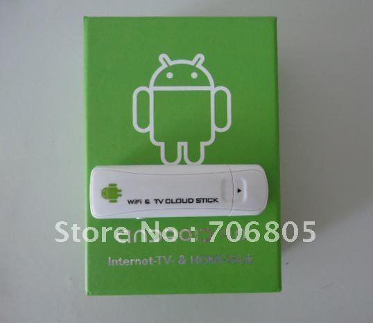 Free shipping DHL global mail or CPAM Mini Android 4.0 TV Box Cortex A5 HDMI USB 4G Wifi TV cloud stick ,Internet-TV-&HDMI-Stick