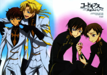 Free shipping CODE GEASS ZERO LELOUCH Japan Anime Poster printed silk wall decoration 12×18 24x36in(1450057939657)