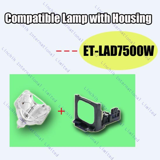 ET-LAD7500W for Panasonic PT-D7500 ; PT-D7600 / replacement projector bulb / compatible projector lamp with housing<br><br>Aliexpress