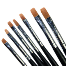 2016 Best Sell 7Pcs Acrylic Nail Art Pen Tips UV Builder Gel Painting Design Brush Manicure Set brushes tools 5WCG 7GT7 8LNJ
