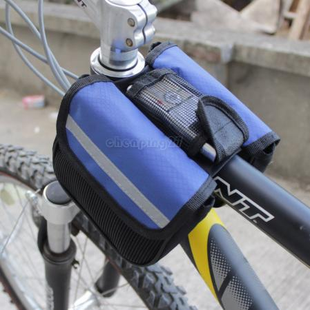 New Cycling Bike Sport Bicycle Frame Pannier Front Tube Both-Side Bag Blue AB1010-B<br><br>Aliexpress