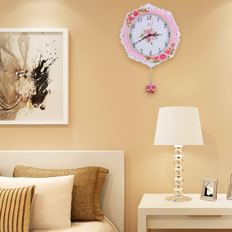 2015 sale real mechanical crystal wall clock time limited Crystal home decor