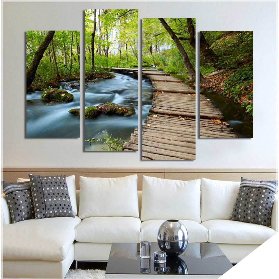 Hoge kwaliteit groothandel 4 panels canvas prints van chinese 4 ...