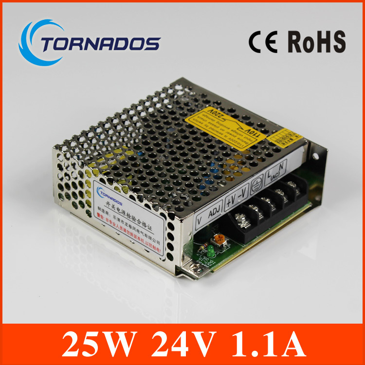 ( S-25-24) Constant voltage switching power supply 25W 24V ac dc power supply Transformer Driver for LED Strip Indoor Use