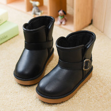 2015 Kids Winter Boots Children's Waterproof Shoes Girls Princess PU Leather Brand Designer Baby Toddler Boys Warm Snow Boots(China (Mainland))