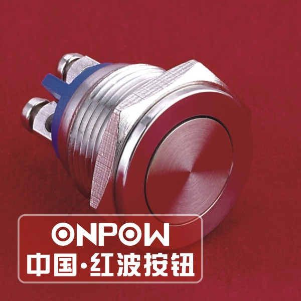 ONPOW 16mm flat stainless steel push button (GQ16PF-10/S) (CE,ROHS)<br><br>Aliexpress