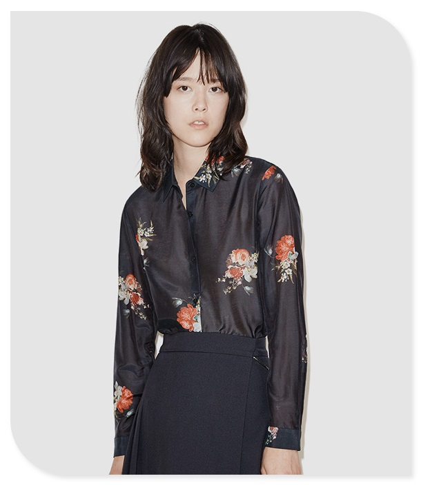 Floral Print Long Sleeve Woman Blouses 2016 Spring Summer Silk Cotton Womens Tops New Floral Chemiser Femme 2016Одежда и ак�е��уары<br><br><br>Aliexpress