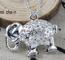 Silver Jewelry 925 Sterling Silver Elephant Pendant Necklace  925 Silver Charm Pendant Necklace