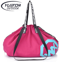 Buy YUETOR Large Big Capacity Holdall Outdoor Travel Handbag Canvas Gym Bag Yoga Mat Bag Sports Bags Sport Women Fitness Bag for $18.31 in AliExpress store