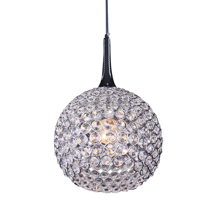 Modern K9 Crystal Pendant Light Opening Ball Lampshade Living Room Hanging Lamp 1 Lights E27 110-240V(China (Mainland))