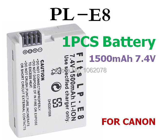 1500mAH Battery For canon LP-E8 EOS 550D 600D 650D 700D LPE8 Digital camera Rechargeable batteries charger battery(China (Mainland))