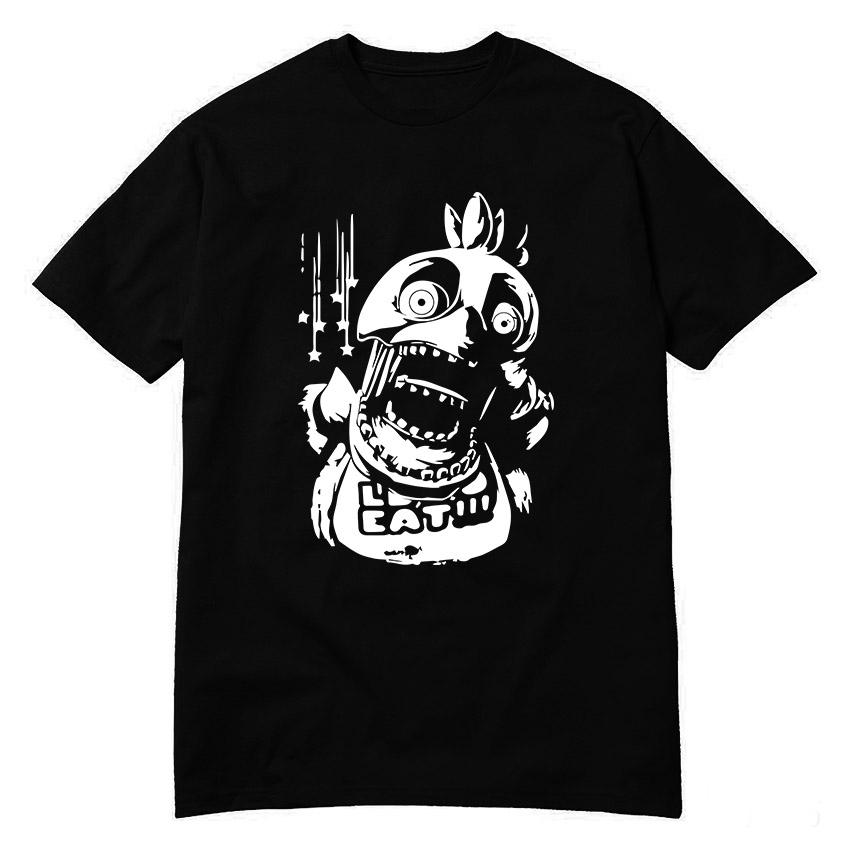 صيف جديد camisetas fnaf قمصان رجل في خمس ليال freddy's النوويالمحملات الرعب لعبة الأعلى القطن س الرقبة قصيرة الأكمام قمصان s- xxl(China (Mainland))