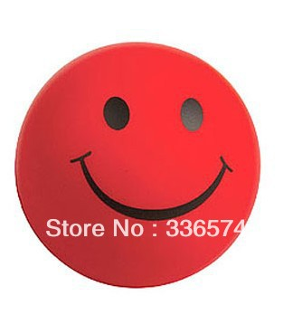 Smile face pu round ball stress reliever(China (Mainland))