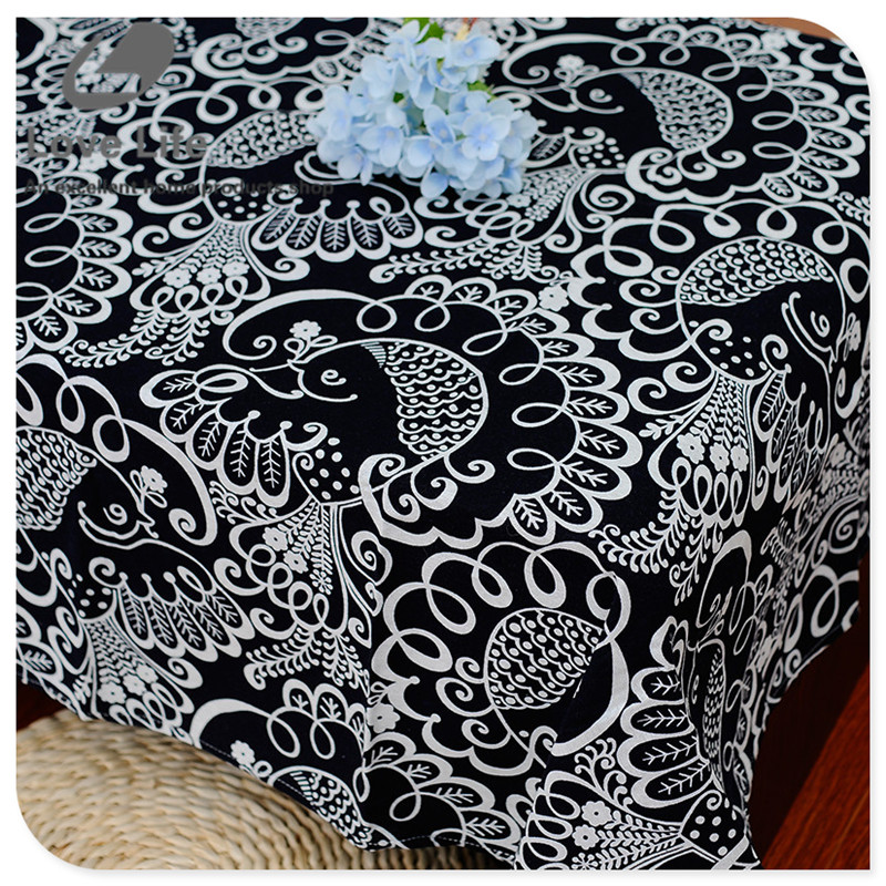 New arrival birds pattern linen table cloth rectangular cheap tablecloths Mantel hot sale home decor 7 sizes(China (Mainland))