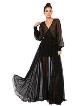 6XL Plus Size Women Sexy Deep V-neck Perspective Polka Dot Lace Long Maxi Black dress Summer Style Vestidos Vestido de festa(China (Mainland))