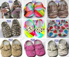 Baby First Walker moccasins toddlers soft sole moccs PU camo leopard Zebra prewalker booties infants bow leather shoes(China (Mainland))