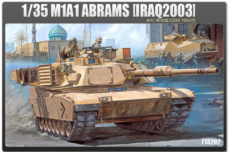 Academy 1:35 the U.S. M1A1 Abram tank (the Gulf War) (13202)(China (Mainland))