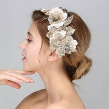 Buy Baroque Hair Jewelry Wedding Party Leaves Crystal Pearl Headbands White Flower Head Piece Bride Vintage Hair Jewelry Accessories for $7.37 in AliExpress store