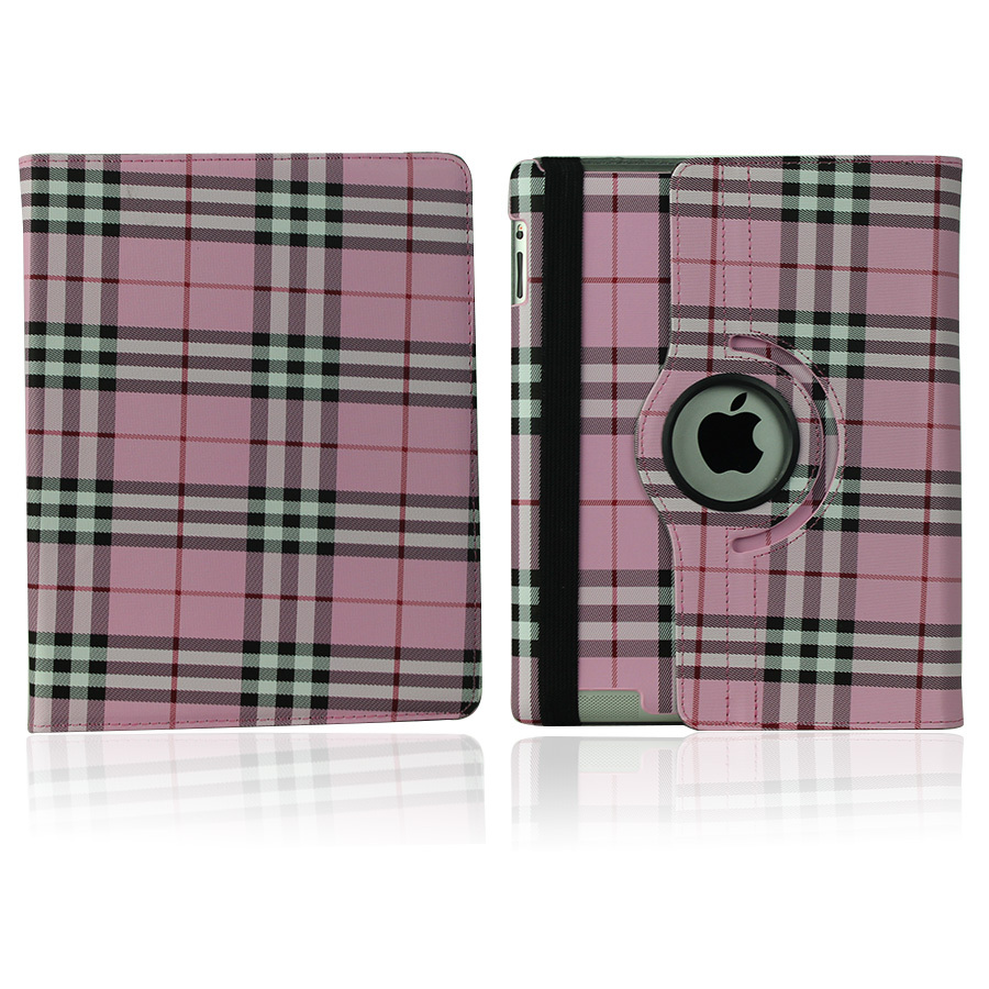Fasion for Scotland plaid Design PU Leather Case For Apple iPad air 2 Cover for ipad 6 Protective Shell Tablet Accessories+ Gift(China (Mainland))