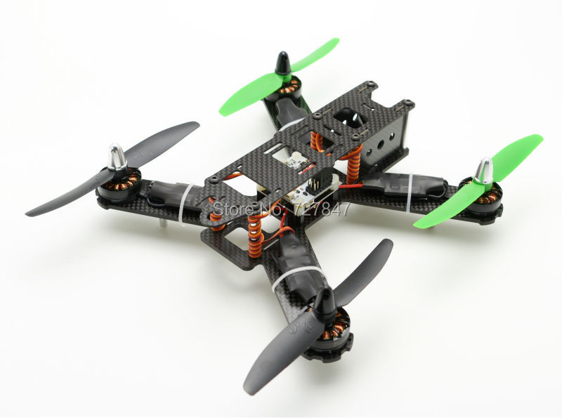 Mini 210mm 210 Pure Carbon Fiber Quadcopter Frame CC3D 2204 2300KV Motor 12A Simonk ESC For Lisam LS-210 QAV210(China (Mainland))