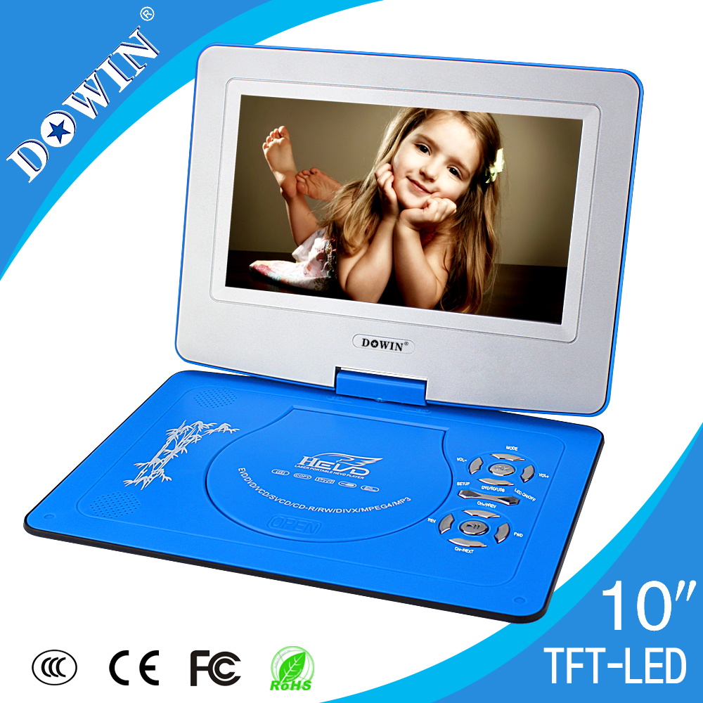 2015 New Products Wholesale SAST 270 Degree Rotatable Portable DVD/EVD Player With Digital TV Turner(China (Mainland))