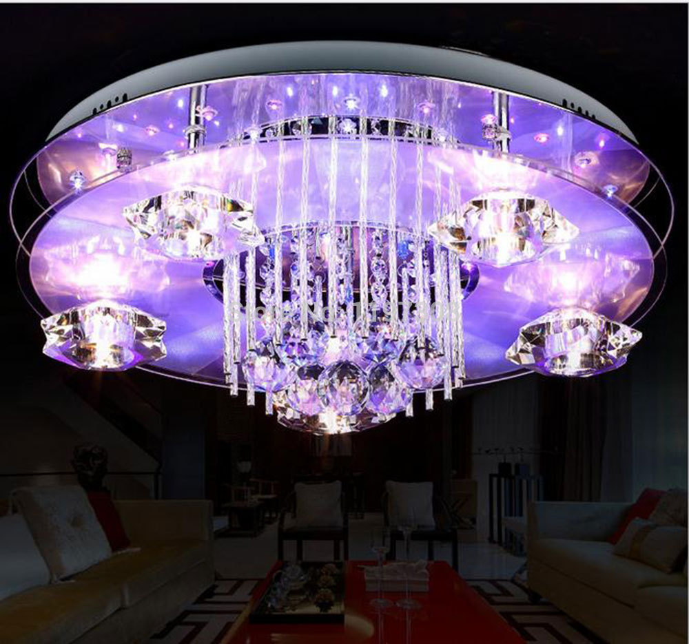 Ceiling Led Lights Flipkart : Fashion modern flush mount led crystal ceiling light